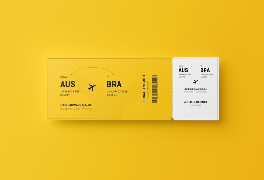 flight ticket mockup mockupworld