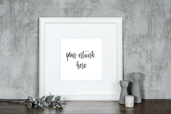 frame mockup wall art mockup styled mock up photo white etsy