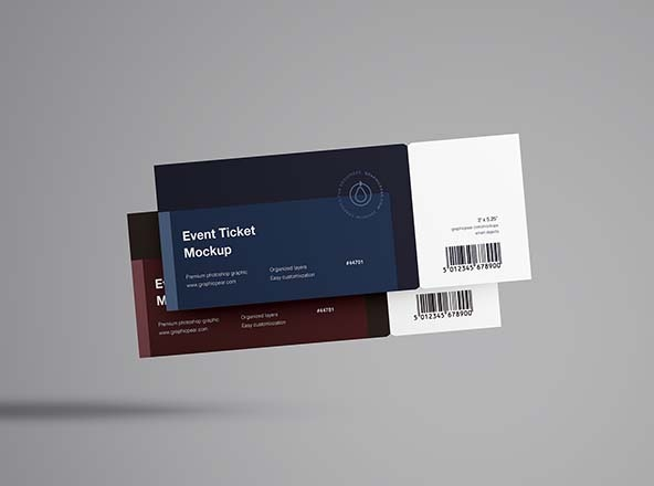 free and premium psd ticket mockups