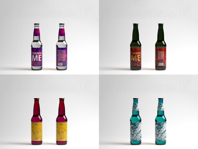free beer bottle mockup freebie supply