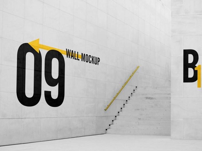 free big wall mockup free mockup