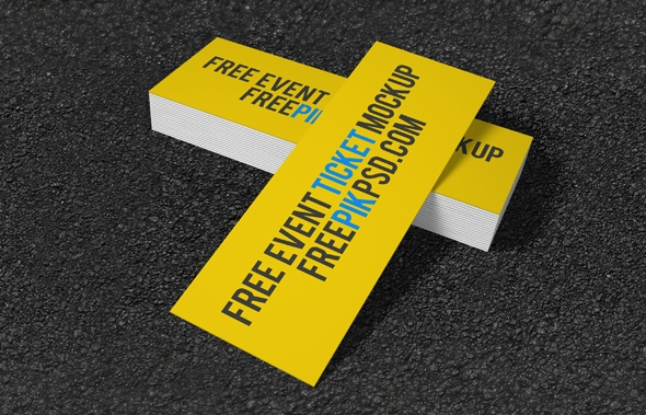 free concert event tickets mockup psd on behance