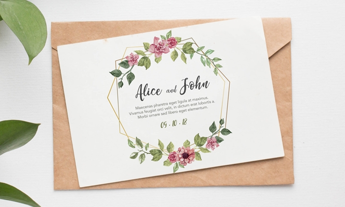 free lovely invitation card mockup psd dribbble graphics
