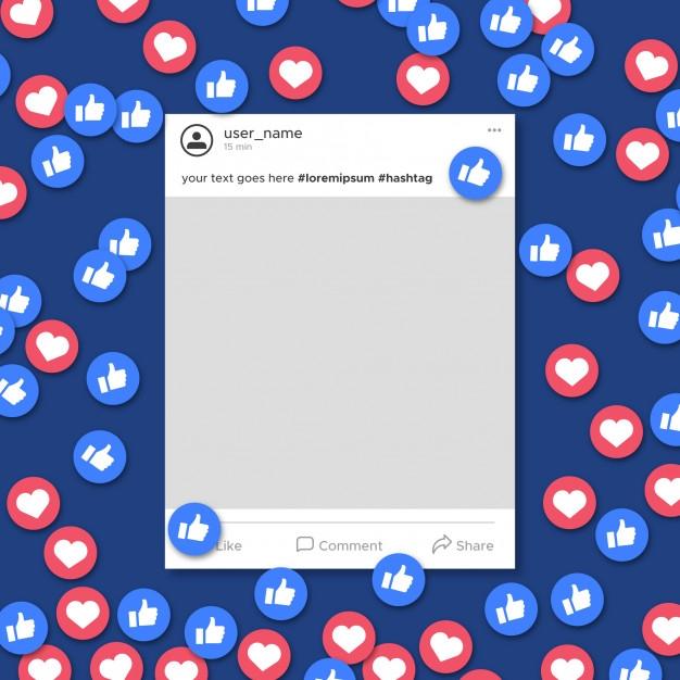 free social media like mockup in psd designhooks