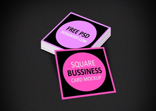 free square business card mockup psd on behance