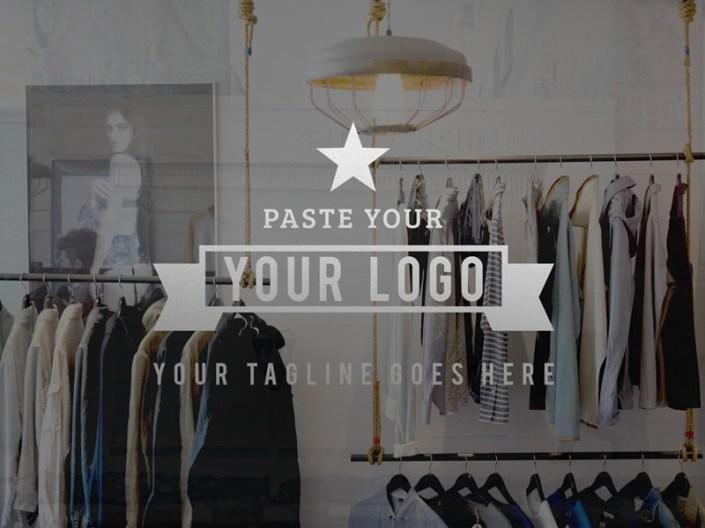 free storefront vinyl logo mockup rio purba on dribbble