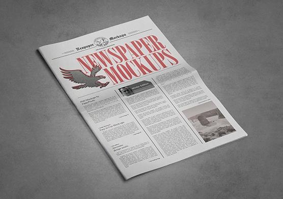 free tabloid newspaper mockup zippypixels