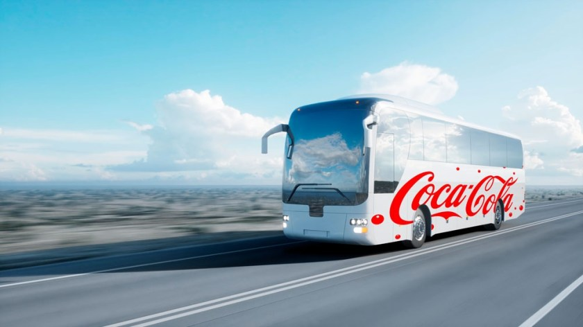 free trip bus design mockup