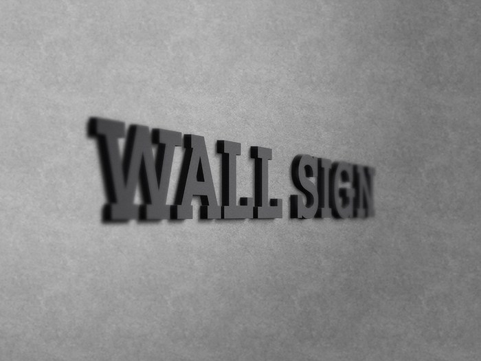 free wall sign logo mockup mockuptree
