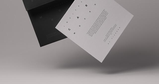 gravity card psd invitation mockup psd mock up templates pixeden