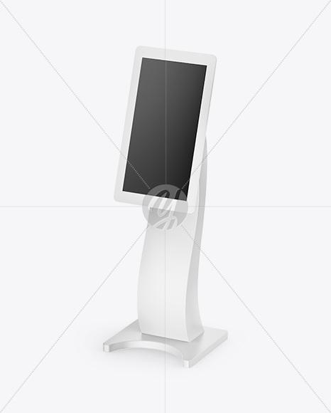 information kiosk mockup half side view in device mockups on
