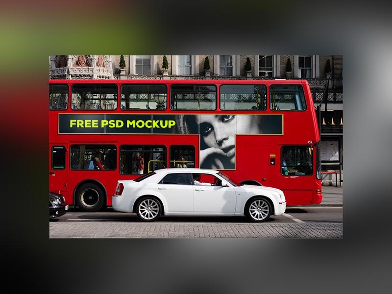 london bus mockup free psd template psd repo