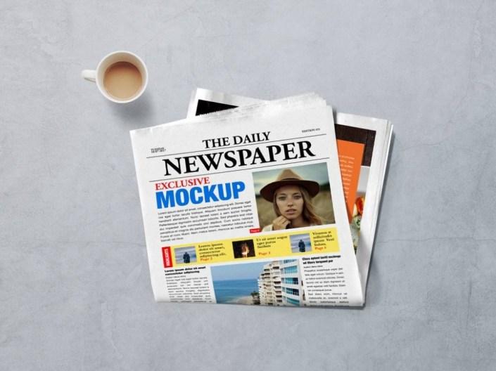 newspaper front page mockup mockupworld