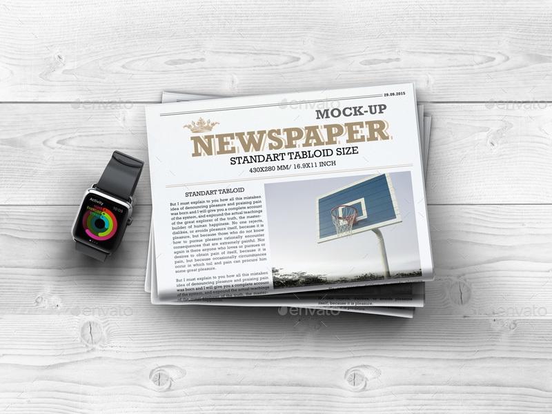 newspaper mock up l5design graphicriver