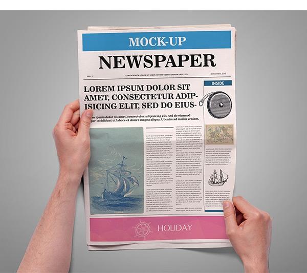 newspaper mock up on behance