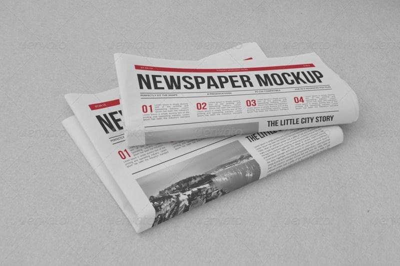 newspaper mock up yogurt86 graphicriver