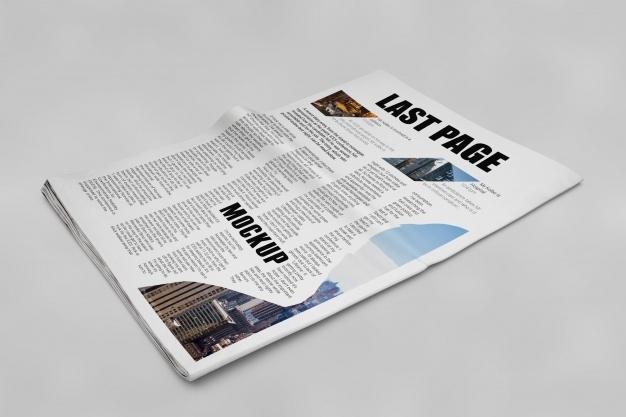 newspaper mockup nohat