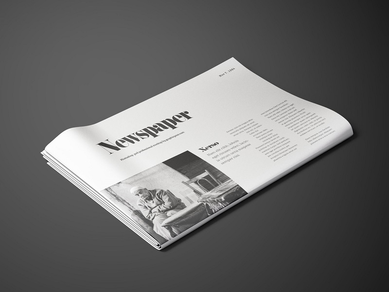 perspective newspaper mockup graphic pear on dribbble