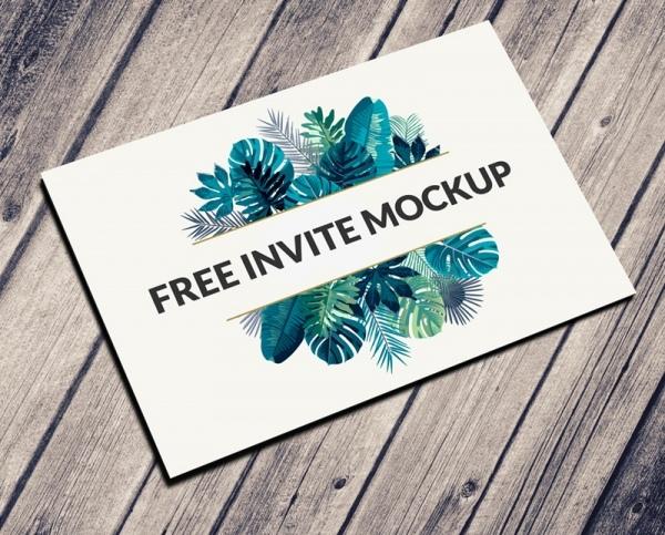 postcard invitation mockup psd free psd in photoshop psd psd