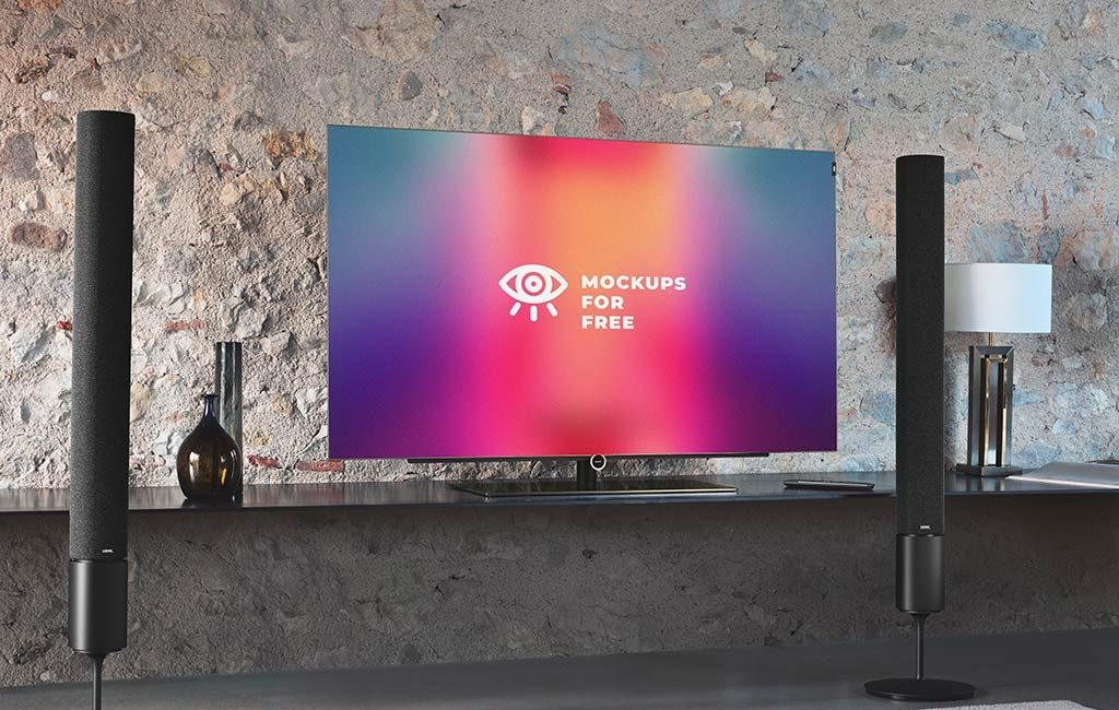 realistic smart tv mockup mockups for free