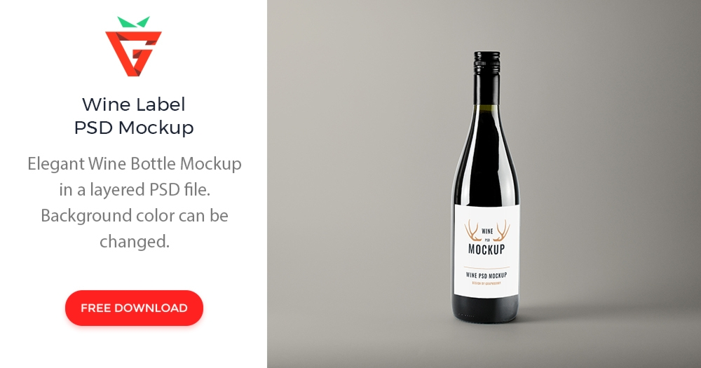 realistic wine bottle psd mockup graphberry