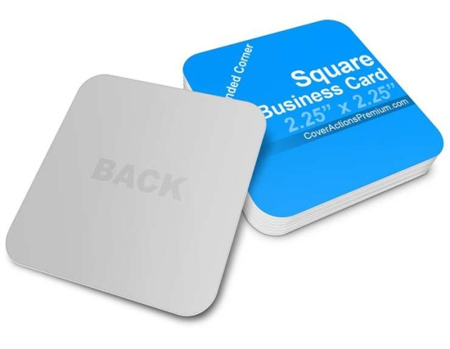 rounded corner business cards elegant square business card mockup