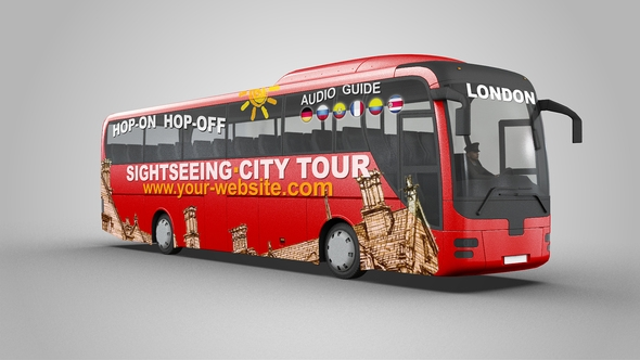 sightseeing tour bus mock up se5d videohive