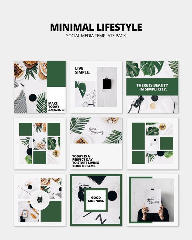 social media post mockup with lifestyle concept psd file free download