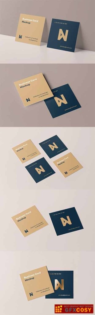 square business card mock up free download photoshop vector stock