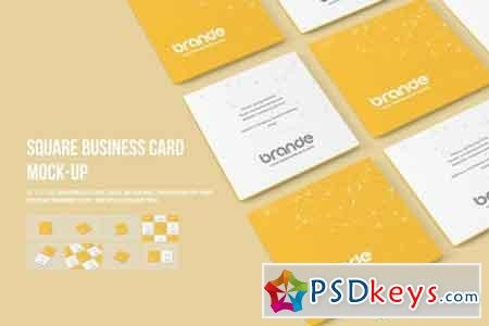 square business card mock ups free download photoshop vector stock