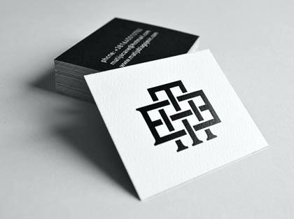 square business card mockup free rounded dansciscente