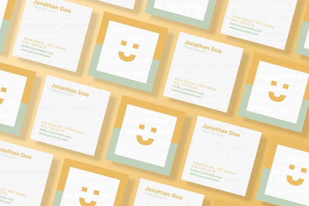 square business card mockup set psd file premium download