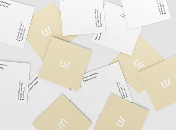 square business cards mockup psd
