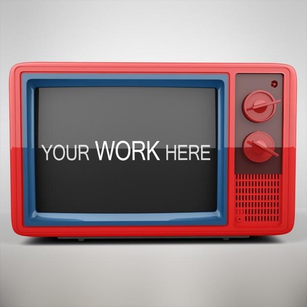 television mock up design psd file free download
