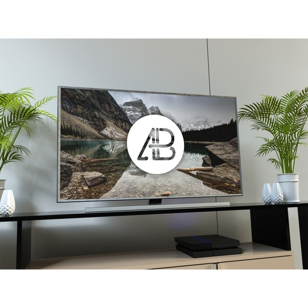 television mock up psd file free download