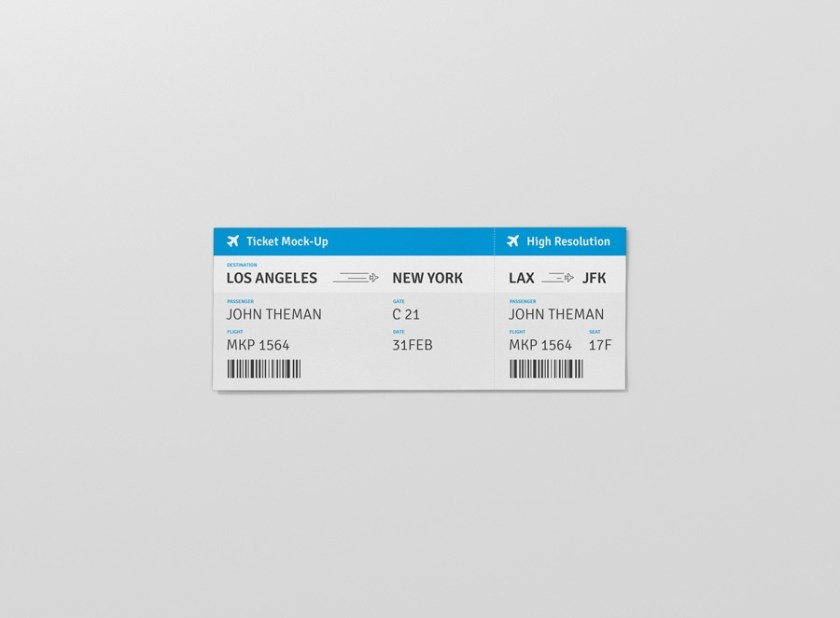 ticket mockup premium and free mockups for your awesome projects