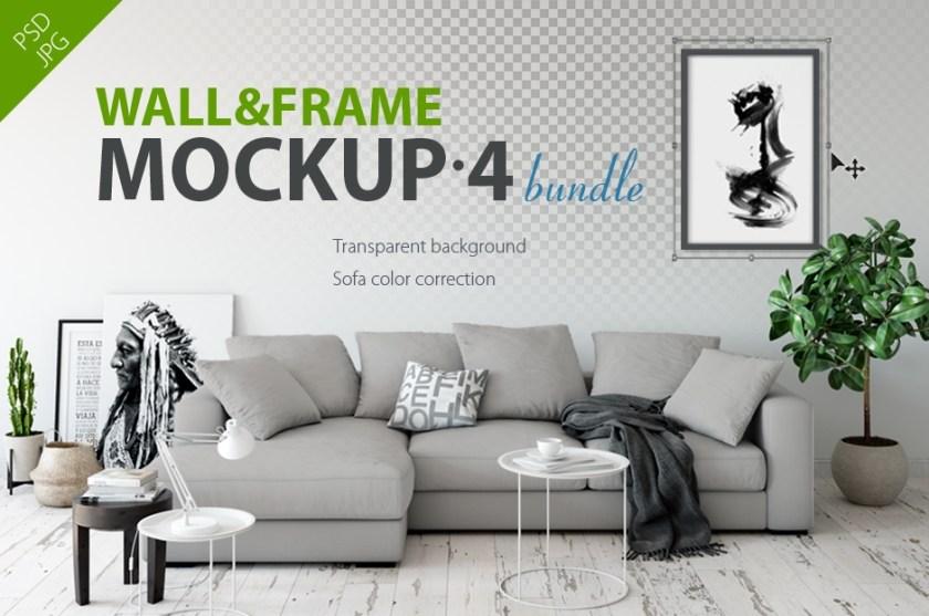 wall frames mockup bundle vol 4 a collection of interior