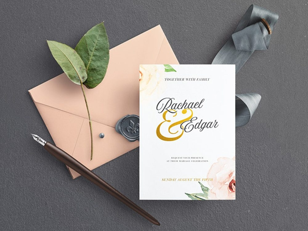wedding invitation mockup free psd template daily mockup