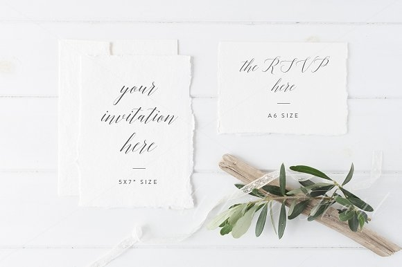 wedding invitation suite mockup mockup store