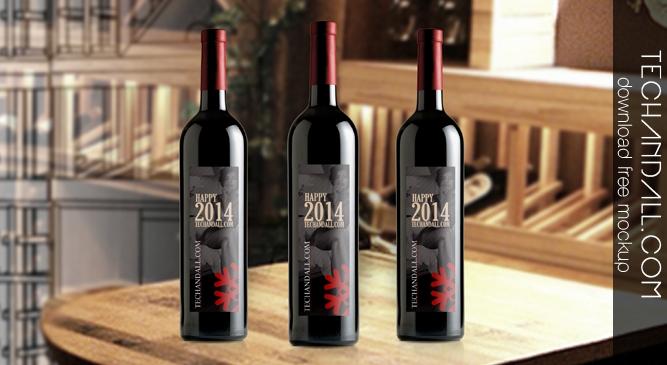 wine bottle mockup 2014 tech all