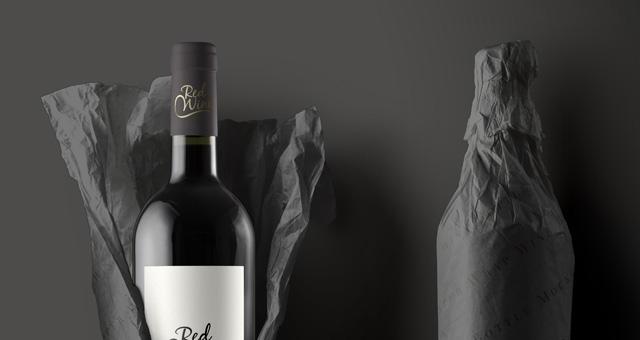 wine bottle psd paper wrap psd mock up templates pixeden