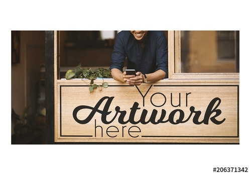 wooden storefront sign mockup buy this stock template and explore