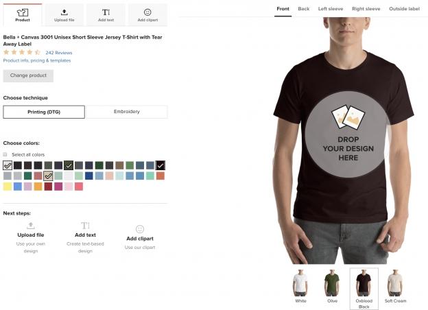 Bella Canvas T Shirt Mockup