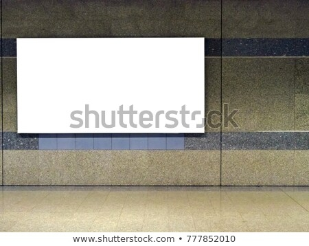 blank billboard located subway advertising mockup stock photo edit