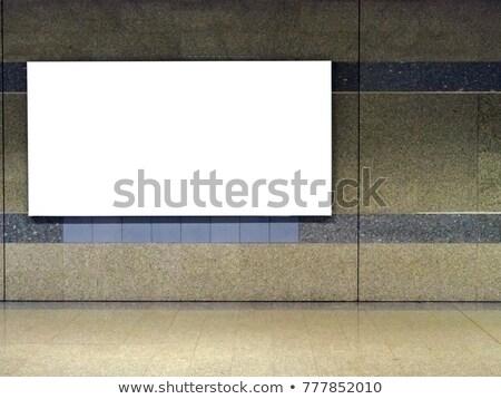 blank billboard located subway advertising mockup stock photo edit