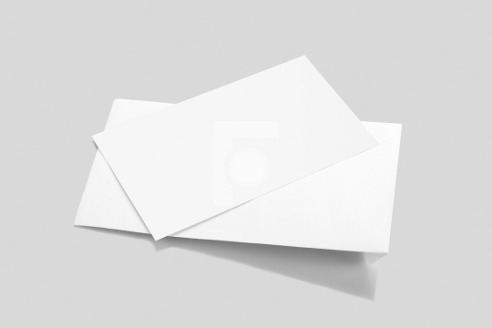 blank white envelope mockup with a invitation card fotonium