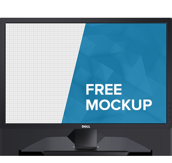 dell monitor mockup on behance