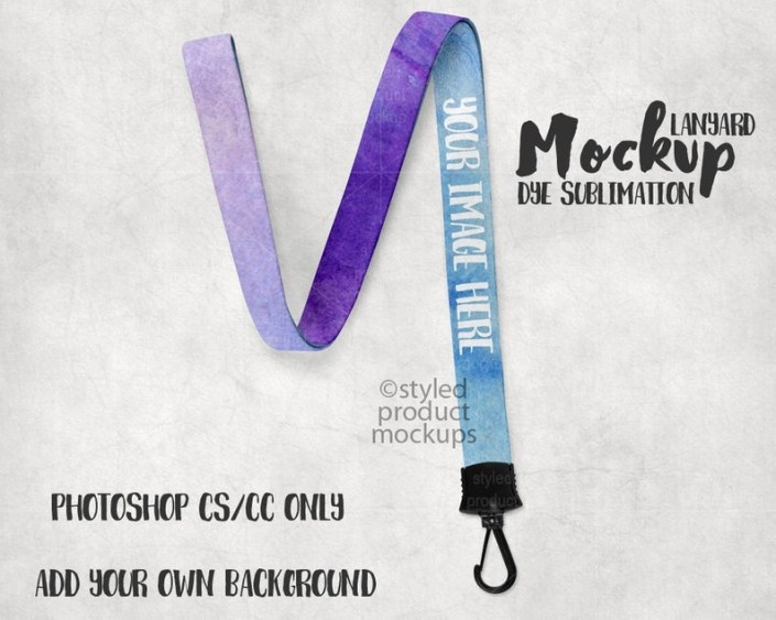 dye sublimation lanyard mockup template add your own image and background