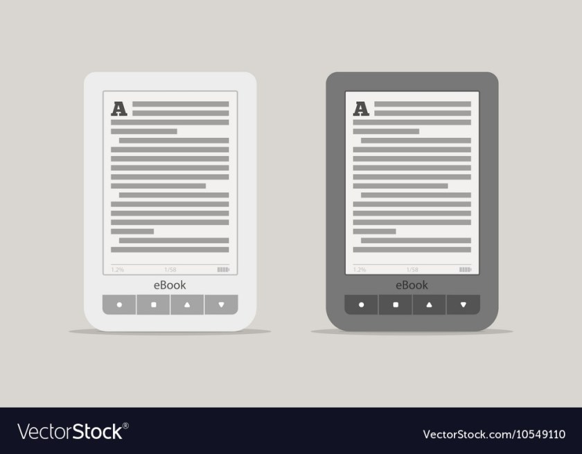 e book reader or tablet computer mockup black and