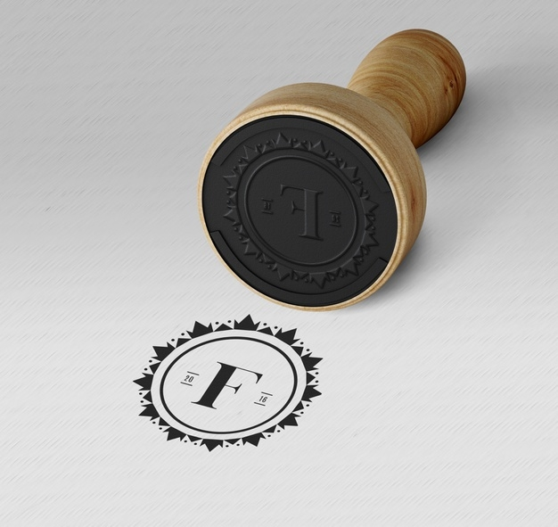 elegant stamp or badge mockup psd file free download